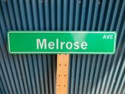 アメリカ ストリートサイン Melrose AVE レプリカサインプレート USA LA カリフォルニア 通り名 住所表記 標識