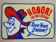 HONOR! THE BIG LUCK KID FLOOR MAT 玄関マット フロアーマット キッチンマット バスマット アメリカンキャラクター 滑り止め