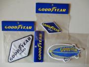 お得な ライセンス取得済み タイヤメーカーでお馴染みの GoodYear ワッペン3枚セット!飛行船、ラジアルタイヤ レーシングタイヤ スタッドレス ロゴマーク