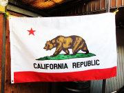 California Flag 3x5ft ★カリフォルニア州旗 クマのイラストでお馴染みカリフォルニア州の旗 約150X90cm アメリカン雑貨 [並行輸入品]