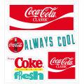 Coca-Cola★CC-BA68★コカ・コーラ ステッカー★ミニステッカー4枚バリューセット Coca-Cola/コカ・コーラ