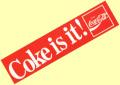 Coca-Cola★CC-BA12★コカ・コーラ ステッカー★Coke is it ! Coca-Cola/コカ・コーラ