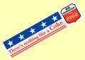 Coca-Cola★CC-BS8★コカ・コーラ ステッカー★There's nothing Like a Coca-Cola/コカ・コーラ