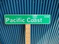 アメリカ ストリートサイン Pacific Coast HYW レプリカサインプレート USA LA カリフォルニア 通り名 住所表記 標識