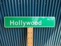 アメリカ ストリートサイン Hollywood   BLVD レプリカサインプレート USA LA カリフォルニア 通り名 住所表記 標識