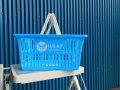 ショッピングバスケット U.S.A.F. Sサイズ 1個 マイバスケット スーパーバスケット 収納 積み重ね 買い物かご プラスチック スーパーマーケット 洗濯物 車内 トランク収納 U.S. AIR FORCE