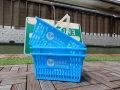 お得な3個セット!ショッピングバスケット U.S.A.F. Sサイズ マイバスケット スーパーバスケット 収納 積み重ね 買い物かご プラスチック スーパーマーケット 洗濯物 車内 トランク収納 U.S. AIR FORCE USエアーフォース