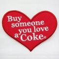 Coca-Cola★CC-E4★コカ・コーラ ワッペン★EMBLEM☆Heart Coca-Cola /ハート コカ・コーラ