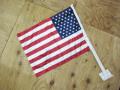 USA CAR FLAG W仕上げ アメリカ国旗 カーフラッグ W生地でしっかり♪ちょいと高級品です!