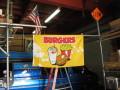 BURGERS FLAG 3x5ft ★ハンバーガー、フレンチフライ♪ファストフード大好きなあなたへ BURGERS旗 [並行輸入品]