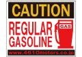CAUTION★REGULAR GASOLINE C/Dステッカー シロウトモータース 4610motors ステッカー シール