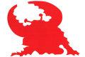アントラー RED★ウルトラマンシリーズ カッティングステッカー★ヒーロー特撮 円谷プロ エンブレム シール 影だけが残る 赤色 ライセンス取得済み☆ウルトラマン ウルトラセブン ウルトラマンタロウ ウルトラQ ウルトラマンレオ ウルトラマンA MAT ZAT TAC