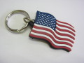 USA FLAG RUBBER KEY RING★星条旗柄ラバーキーリング