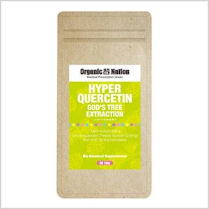 【Organic Nation 100%天然素材抽出】 ハイパーケルセチン 90粒 栄養医学研究所開発検定品 タキシフォリン(別名ジヒドロケルセチ ン)