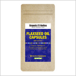 【Organic Nation 100%天然素材抽出】 亜麻仁油(FLAX-OIL)カプセル180粒入
