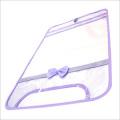 【日本製】【女の子向け】 透明・防水 ランドセルカバー リボン付 反射テープ付 ラベンダー