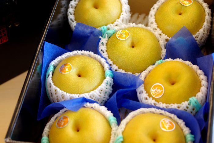 秋甘泉(あきかんせん)通信販売 鳥取の糖度約13度の和梨を販売取寄。中箱 約4玉~約7玉 鳥取産