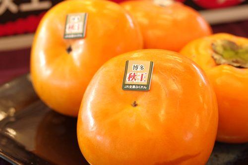 秋王(あきおう)柿 販売 福岡県産の甘柿で種がない新品種 約4玉〜約5玉
