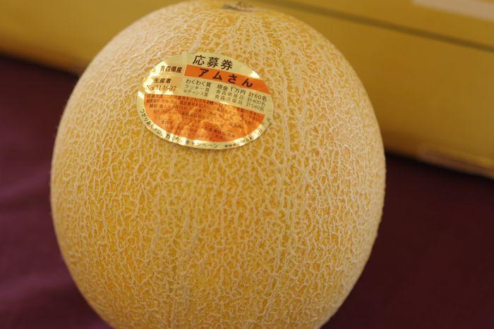 完熟アムさんメロン通販 青森産。つがりあんブランドを販売。お中元果物に 1玉