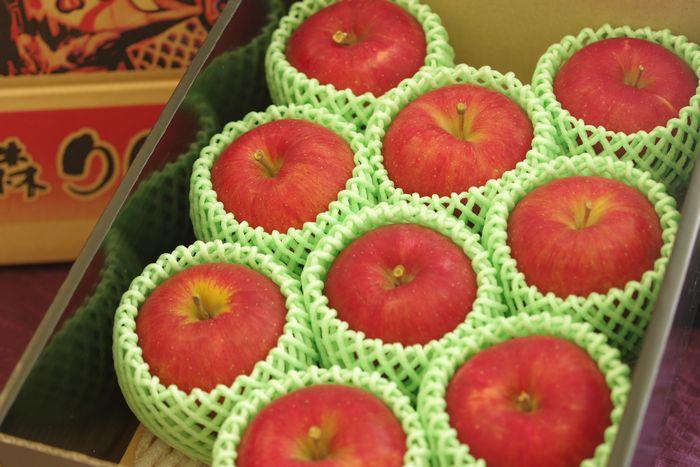 青森県シナノスイートりんご販売 篤農家林檎 中箱 約7玉~約9玉