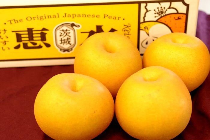 恵水梨(けいすいなし)販売 茨城県オリジナル品種の和梨を通販で取寄せ。約5kg 約5玉~約9玉