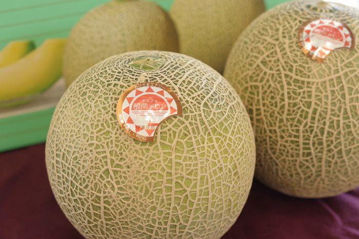 飯岡オルフェメロン通販 千葉県産販売 果肉は緑色 糖度14度以上 2玉入