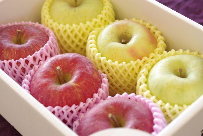 サンふじりんご3玉&ぐんま名月りんご3玉 お歳暮林檎 冬ギフトに