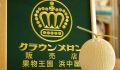 お徳用 1玉入 クラウンメロンお歳暮・お中元販売 通販で静岡県産のマスクメロン「等級 雪及びA品」 網目が弱い・外観若干傷あり