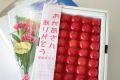 母の日さくらんぼギフト通信販売 山形佐藤錦をプレゼントに。カーネーション付き。化粧箱300g