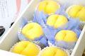黄桃通信販売。黄金桃・他品種の黄色いモモを販売取寄。フルーツギフトに 中箱 約7玉~約9玉  山形・他産地