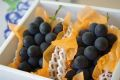 高尾(たかお)葡萄通販 山形産。種なし皮ごと食べられるぶどうを販売取寄。約1kg 約2房