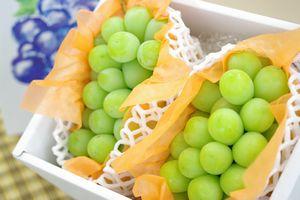 シャインマスカット葡萄通信販売 種なし皮ごと食べられるぶどうを販売取寄。2房 約1100g