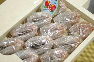枯露柿通販 山梨県松里ころがき販売 お歳暮干し柿に 化粧箱 450g 約8個〜約13個
