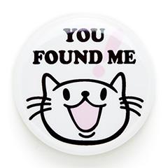 缶バッチ 猫 FOUND ME ネコ ねこ 猫柄 雑貨 SCOPY スコーピー
