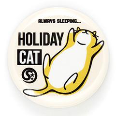缶バッチ 猫 HOLIDAY CAT ネコ ねこ 猫柄 雑貨 SCOPY スコーピー