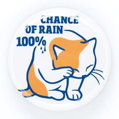 缶バッチ 猫 RAIN 100% ネコ ねこ 猫柄 雑貨 SCOPY スコーピー