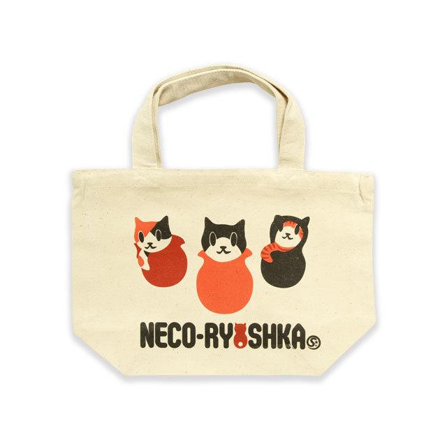 トートバッグ ミニトートバッグ メンズ レディース 猫 NECO-RYOSHKA ネコ ねこ 猫柄 雑貨 ランチバッグ SCOPY スコーピー