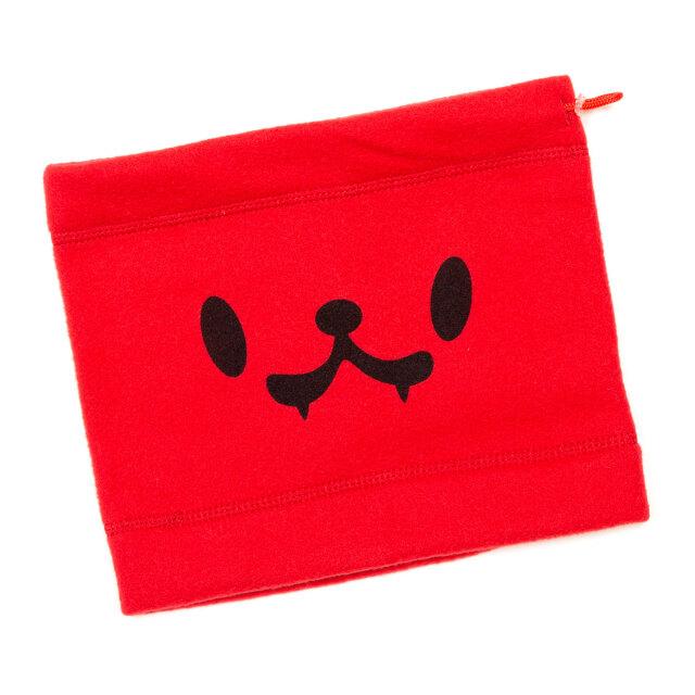 フリース ネックウォーマー メンズ レディース 猫  レッド - ブラック おもしろ ネコ ねこ 猫柄 雑貨 SCOPY スコーピー
