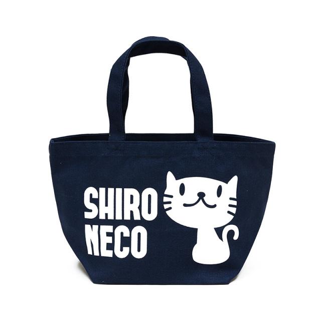 トートバッグ ミニトートバッグ メンズ レディース 猫 しろねこさん - ネイビー ネコ ねこ 猫柄 雑貨 ランチバッグ SCOPY スコーピー