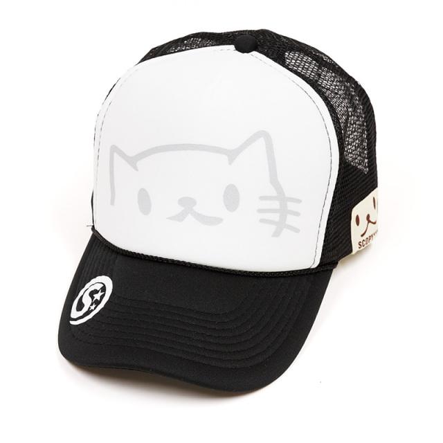 メッシュキャップ 猫 のぞきねこ ブラック ネコ ねこ 猫柄 雑貨 - キャップ SCOPY スコーピー