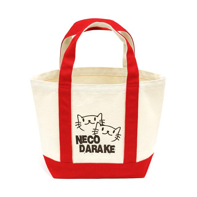 トートバッグ ミニトートバッグ メンズ レディース 猫 NECODARAKE - レッド ネコ ねこ 猫柄 雑貨 キャンバス SCOPY スコーピー