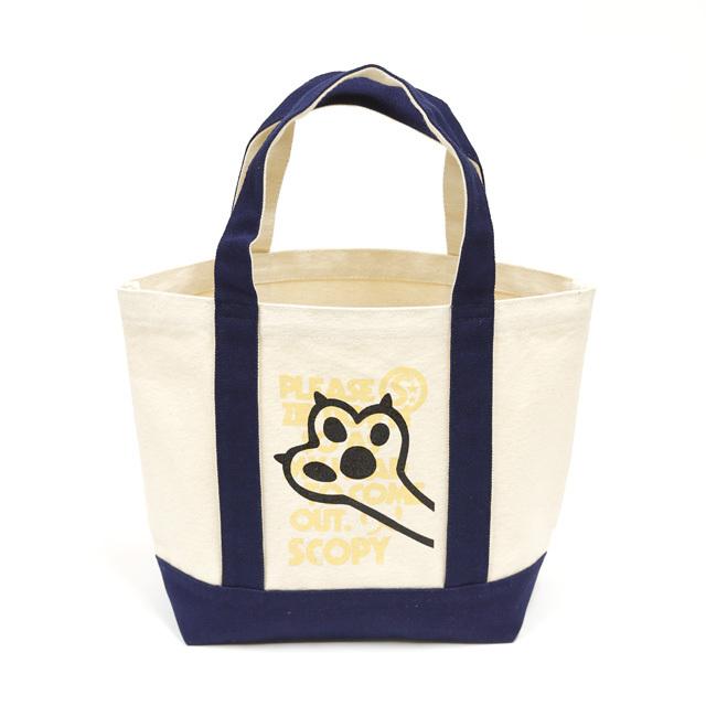 トートバッグ ミニトートバッグ メンズ レディース 猫 I'm here! - ネイビー ネコ ねこ 猫柄 雑貨 キャンバス SCOPY スコーピー