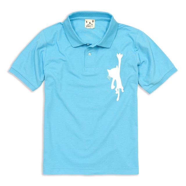 ポロシャツ メンズ レディース 半袖 猫 HANGING CAT ネコ ねこ 猫柄 雑貨 SCOPY スコーピー