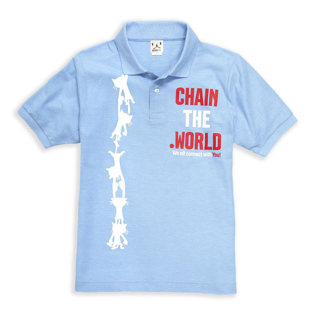 ポロシャツ メンズ レディース 半袖 猫 CHAIN ネコ ねこ 猫柄 雑貨 SCOPY スコーピー