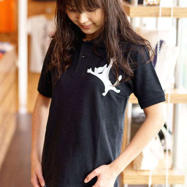 ポロシャツ メンズ レディース 半袖 猫 AIRBORNE TROOPS - ブラック ネコ ねこ 猫柄 雑貨 SCOPY スコーピー