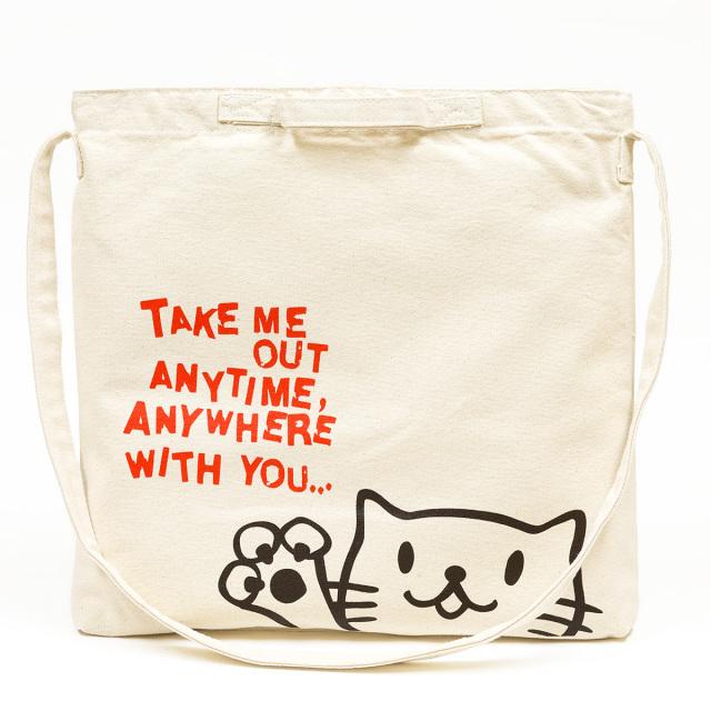2WAY ショルダーバッグ 猫 Griper - ナチュラル ネコ ねこ 猫柄 雑貨 サコッシュ バッグ SCOPY スコーピー