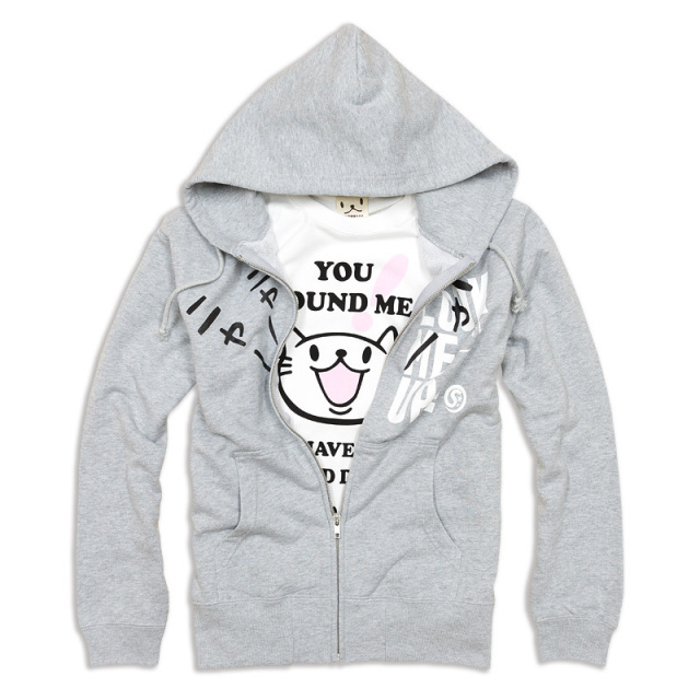Tシャツ パーカー セット 猫 FOUND ME + LOOK ME UP ネコ ねこ 猫柄 雑貨 SCOPY スコーピー
