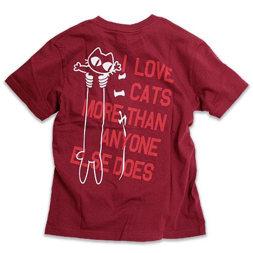 Tシャツ:『LOVE CAT PK_Ver』 - ワインレッド