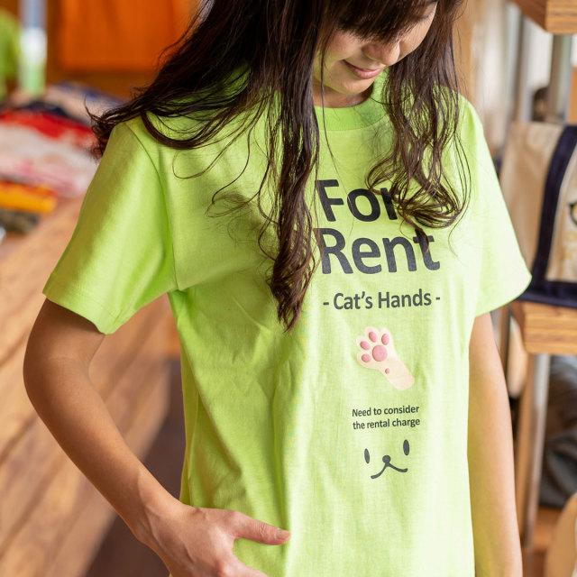 Tシャツ メンズ レディース 半袖 猫 猫の手貸します ネコ ねこ 猫柄 雑貨 SCOPY スコーピー