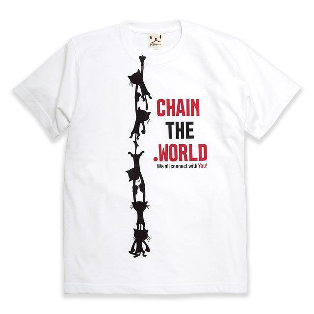 Tシャツ メンズ レディース 半袖 猫 CHAIN ネコ ねこ 猫柄 雑貨 SCOPY スコーピー